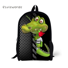 ELVISWORDS School Bags for Teenagers Funny Frog Printing Children Backpacks Schoolbag Students Bookbag Orthopedic