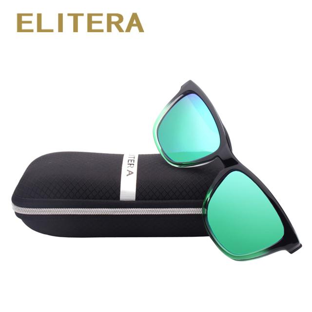ELITERA New Fashion Polarized Women Sunglasses Famous Lady Brand Designer Gradient Colors Coating Mirror Sun Glasses UV400