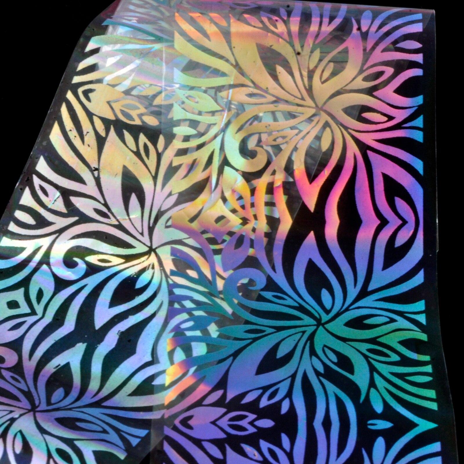 Cool Sparkle Zilveren Nagel Folie Bloem Streep Leaf Transparents ...