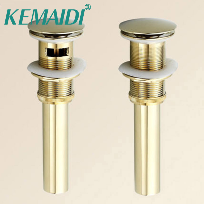 KEMAIDI Fashion New Antique Brass Style Bathroom Basin Waste Pop Up Waste Vanity Vessel Sink Drain Without Overflow
