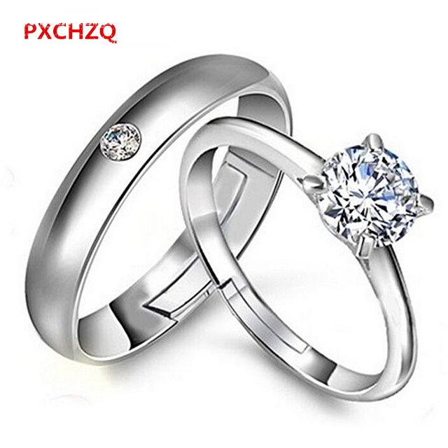 Pxchzq Popular Couple Rings Silver Jewelry Wedding Rings
