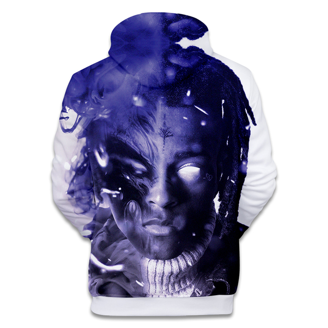 2018 New Raper Xxxtentacion 3D Print Hoodies Men/women Fashion Hip Hop 3D Xxxtentacion Men's Hoodies and Sweatshirt Clothes