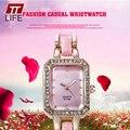 2016 TTLIFE Marca incrustaciones-Diamond Dial Reloj de la Mujer Forma Cuadrada de Moda Casual Reloj de Las Mujeres Relogio Feminino Para señora