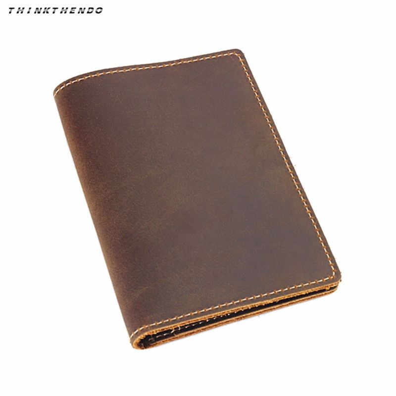 THINKTHENDO Fashion Men Women Vintage Travel Leather Passport ID Card Cover Holder Case Protector Organizer New Multifunction