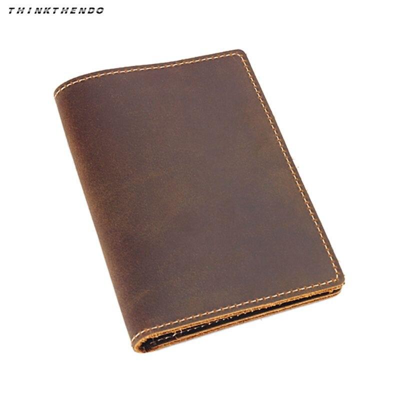 THINKTHENDO Fashion Men Women Vintage Travel Leather Passport ID Card Cover Holder Case Protector Organizer New Multifunction