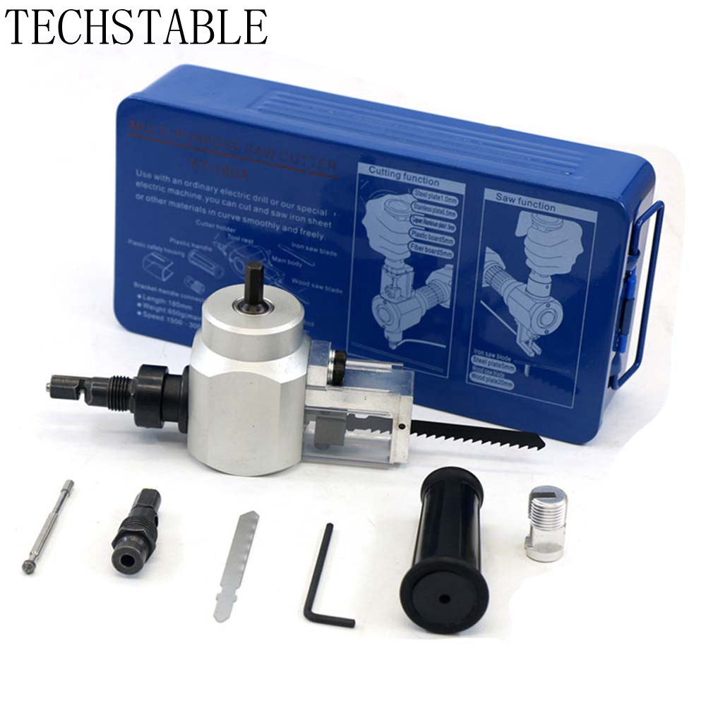 TECHSTABLE Metal Cutting Double Head Sheet Nibbler Saw Cutter Tool Drill Attachment Free Cutting Tool Metal Hand tools newest nibble metal cutting double head sheet nibbler saw cutter tool drill attachment free cutting tool nibbler sheet metal cut