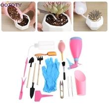 21Pcs Mini Gardening Hand Tools Set Succulent Plants Watering Bottles Miniature