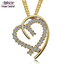 DreamCarnival 1989 Love Heart Pendant Necklace for Women Collares Wholesales Jewelry Super Deal Drop Ship Kettingen Voor Vrouwen(China)