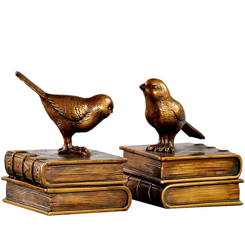 Bookcase Study Ornaments Retro Bird Bookends Creative