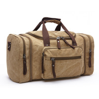 Vintage Canvas Travel Bag With Strips Soft Solid GYM Bag Outdoor Sport Bags Men Bags For Trip Camping 6 Colors WX131