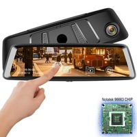 10'' FHD Car Camera Sony Sensor Front Rear Dual 1080P Night Vision Rearview Mirror Video Recorde IPS Touch Screen C79 DVR Carro