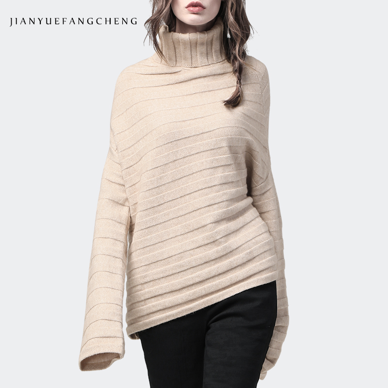 Opposite Season Inventory Clearance ! Women Autumn Winter Warm Turtleneck Twill Knitted Sweater Loose Pullovers Long Sleeve