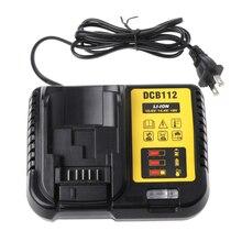 DCB112 литий-ионный Батарея Зарядное устройство для DeWalt 10,8 В 12 В 14,4 В 18 В DCB101 DCB200 DCB140 DCB105 DCB200 ЕС США Plug черный