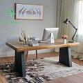 O notebook mesa do computador desktop restaurar antigas formas de madeira Nórdica casa secretária contratada simples pequena mesa mesa de escritório