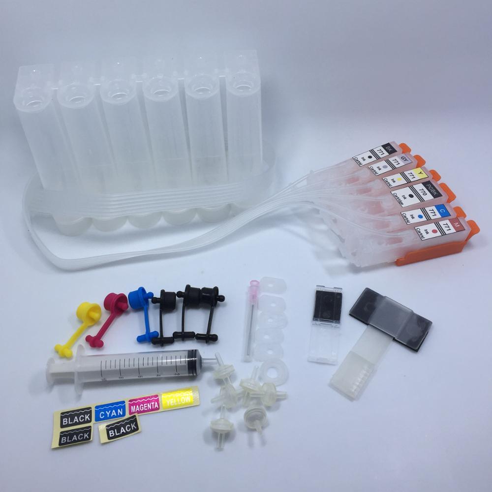 yotat cartucho de tinta de 6 cores ciss pgi770 pgi 770 pgi 770xl mg7770 cli