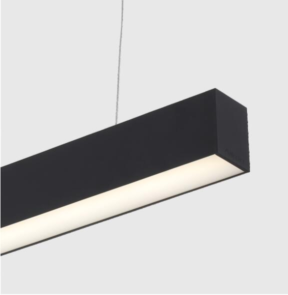 6ft black housing aluminum profile led linear light with dimmable driver 0 10V suspended cable is included