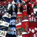 100% Шелк Счастливого Рождества Галстук для Мужчин Оленей Снеговик Пингвин Отпечатано Новинка Синий Красный Флот Роскошных Людей Галстук на Рождество