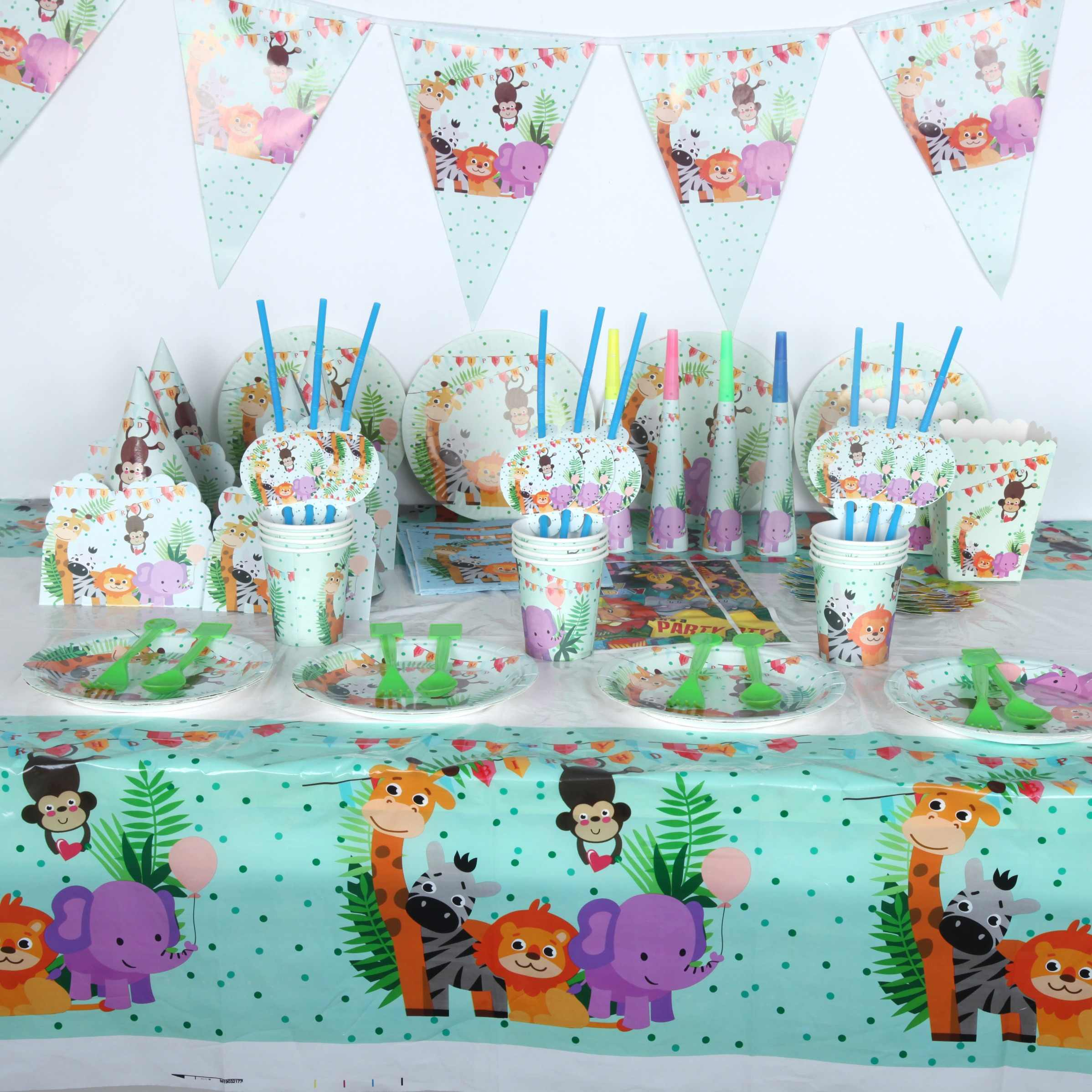 31pcs Safari party children\u0027s birthday party decoration set