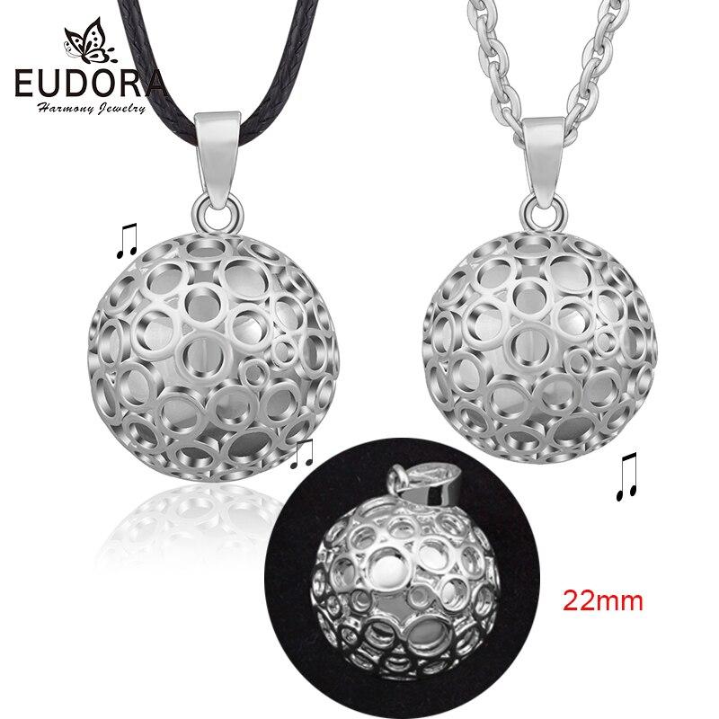 Bola de embarazo EUDORA 22 mm diseño especial Chime embarazada Bola colgante collar Harmony Bola Ángel llamador joyería B296
