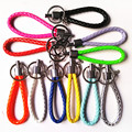 100 piece/ lot  Leather Key Chain 13.5 cm Leather Key Ring Accessories For Bag Pendant For Car Key Holder Cute Charm Jewelry