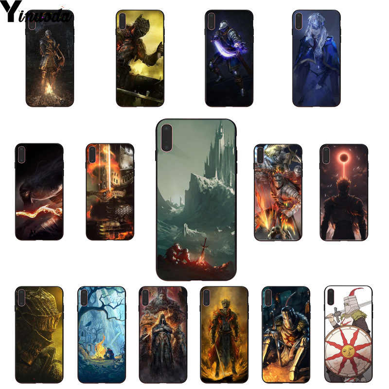 Yinuoda dark souls Soft Rubber black Phone Case for Apple iPhone 8 7 6 6S Plus X XS MAX 5 5S SE XR Mobile Cases