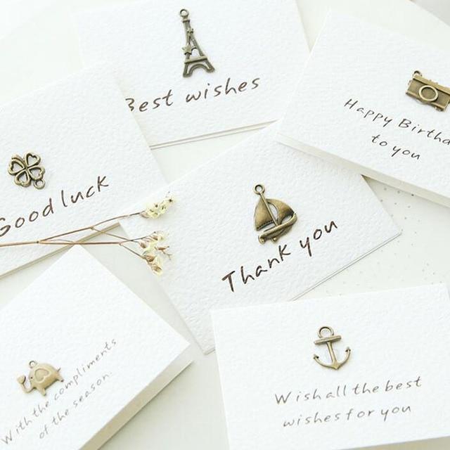Vintage Mini Danke Grusskarte Lassen Nachricht Karten Lucky Love
