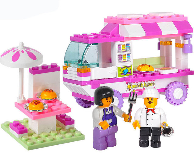 Food Toys For Girls : Aliexpress buy wholesale building blocks new pink