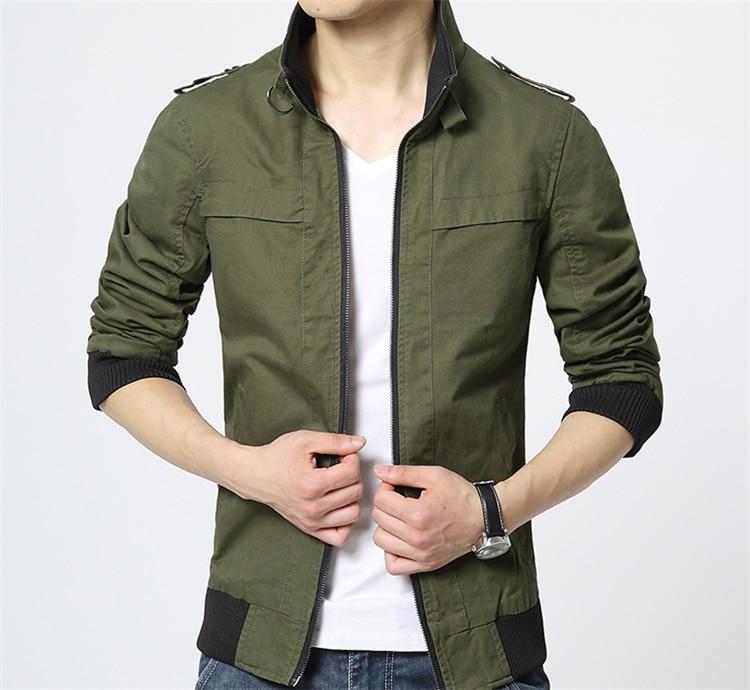 Ceket Erkekler Yeni Sonbahar Kış Arıtılmış Pamuk Moda Marka - Erkek Giyim - Fotoğraf 3