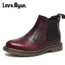 Big size Fashion Men Ankle Boots Casual Men genuine Leather chelsea boots martin Breathable slip on Boots military shoes AE-06
