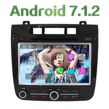 """8"""" Android 7.1 Quad Core 2GB RAM 3G/4G Wifi DAB AUX Multimedia Car DVD Player Radio GPS Stereo for Volkswagen Touareg 2010-2014"""