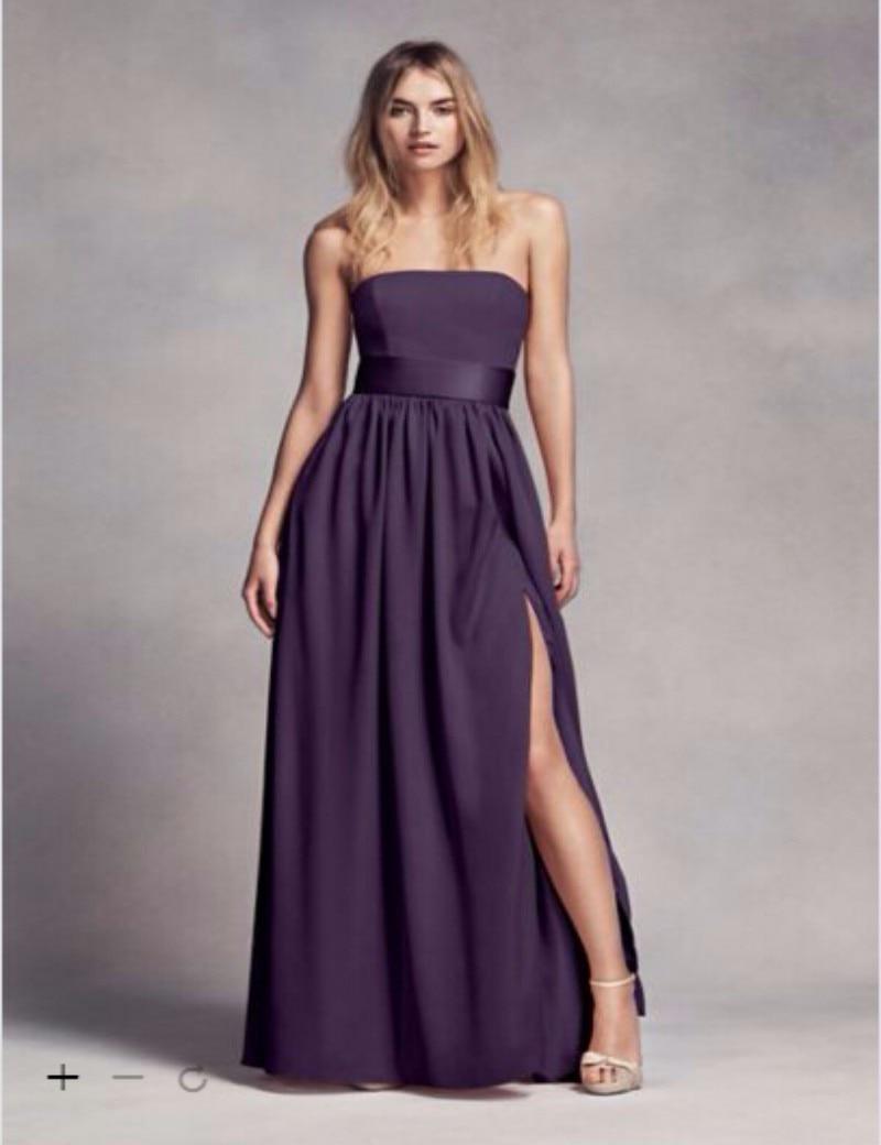 2016 Bridesmaid Dresses Long Strapless Bridesmaid Dress ...
