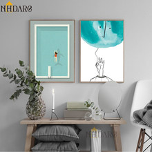 Modern Simple Minimalist Swimming Pool Canvas Print Painting Poster Art Wall Pictures for Living Room Home Decor Wall Decor(China)