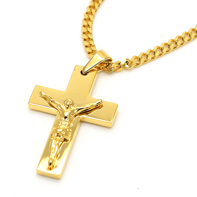 Gold color jesus cross pendants high quality fashion hiphop franco gold color jesus cross pendants high quality fashion hiphop franco long necklaces gold chain for men bijouterie 6 design in chain necklaces from jewelry mozeypictures Images