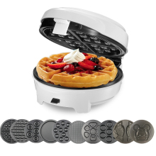 цена на Home DIY Waffle Maker Multi-function Egg Roll Cake Muffin Waffle Maker Egg Machine Electric Baking Pan Automatic 10pcs mold
