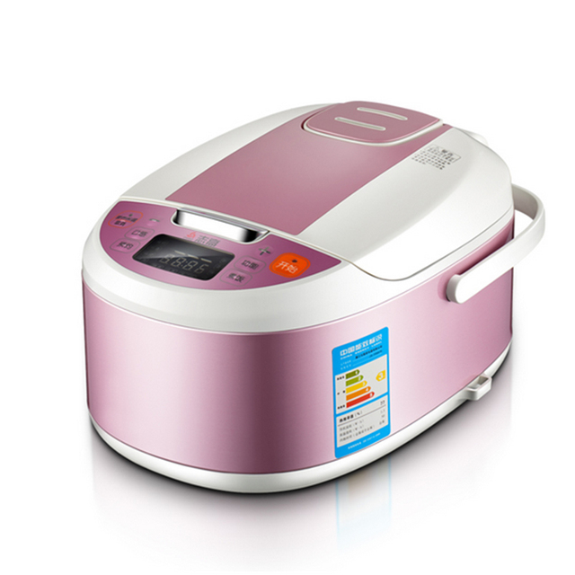 3L Rice Cooker Smart Reservation Mini Electric Cooker 1 4 People Cooking  Pot Pink Kitchen