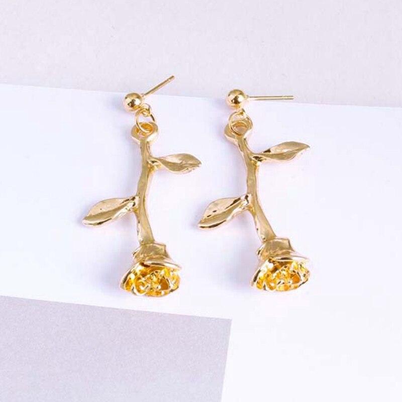 Fashion Girls Flower Branches Earrings Womens Earrings Fahion Jewelry Stud Earring