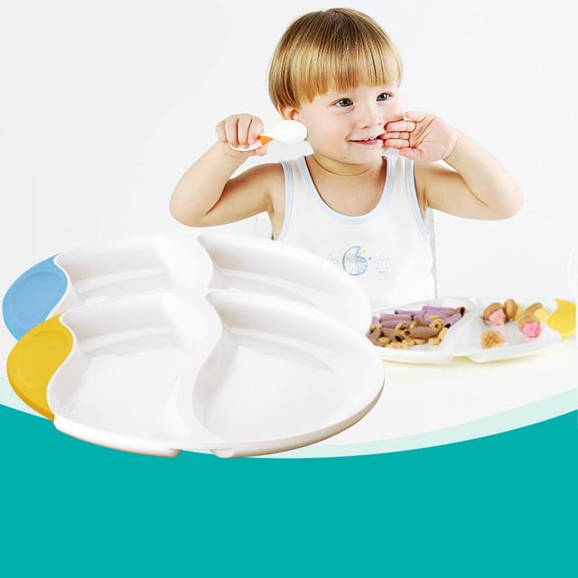 Chegada nova Placa de Alimentação Do Bebê Infantil Crianças Fácil Aderência Formação Placa Talheres BPA Livre Crianças Prato Frete Grátis