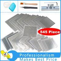 Bga Reballing Stencil Kit 545pcs Stencils BGA Jig Direct Heating Box Cleaning Brush Anti Static Tweezer