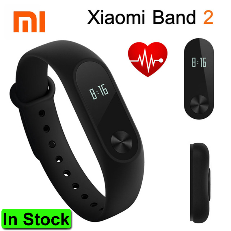 In Stock 2016 Original Xiaomi Mi Band 2 Smart Wristband Bracelet Band2 Clock OLED Screen Touchpad Pulse Heart Rate IP67 Fitness