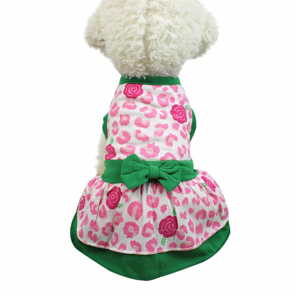 Transer Vestido Perro маленькая собака с цветочным принтом платье товары для собак кошка милые летние хлопковые 18 Dec11