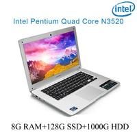 """עבור לבחור 8G RAM הכסף 128g SSD 1000g HDD Intel Pentium 14"""" N3520 מקלדת מחברת מחשב ניידת ושפת OS זמינה עבור לבחור (1)"""