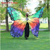 New Performance Women Dancewear Stage Props Polyester Cape Cloak Dance Fairy Wing Butterfly Wings For Belly