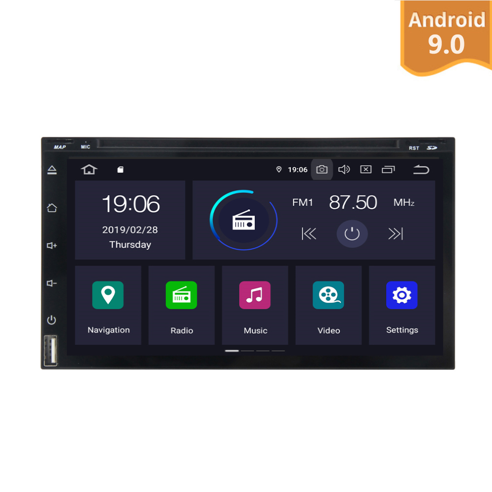 Android 9.0 Universal Car Radio two 2 Din two multimedia GPS Navi PX6 Built in DSP IPS Screen 4Gb+64Gb 6 Core RDS WIFI Bluetooth
