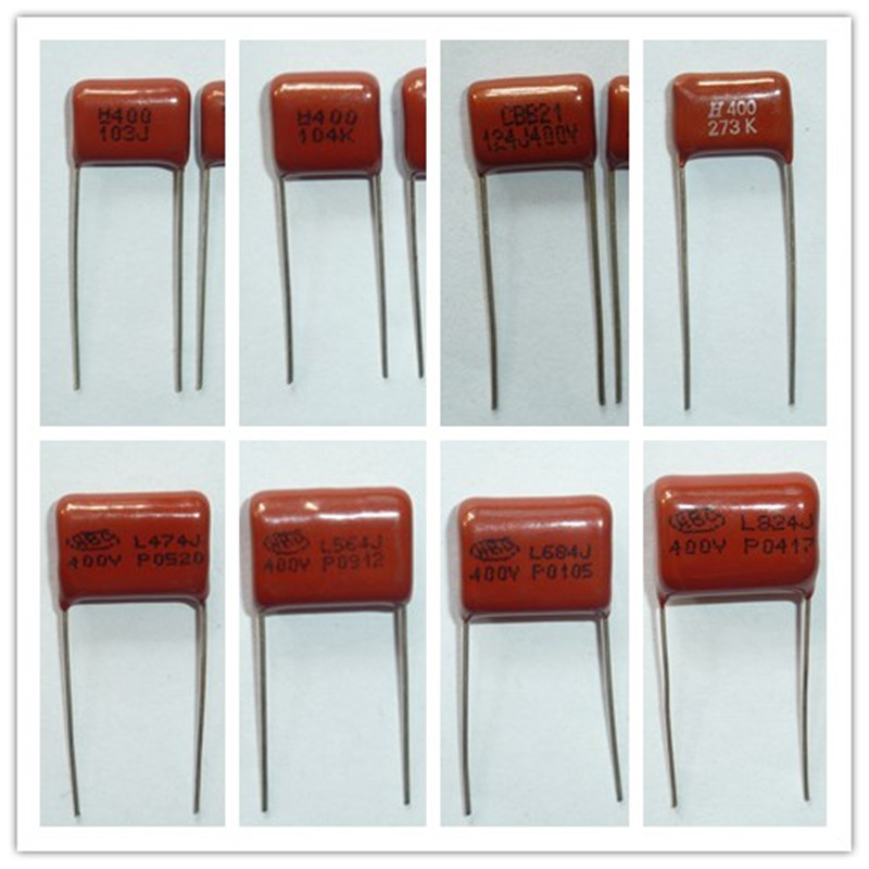 10pcs CBB Capacitor 400V 103~475 10nF~4.7uF Metallized Polypropylene Film Capacitor All Values