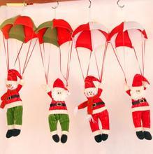 Здесь можно купить   5pcs/lot Christmas decorate for tree or house Santa Claus Parachute Chiristmas party DIY accessories Festive & Party Supplies