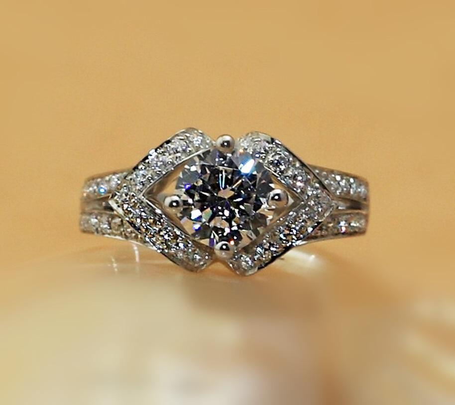 1 carat SONA synthetic diamant wedding engagement silver ring bands bridal wedding rings  (DFE)1 carat SONA synthetic diamant wedding engagement silver ring bands bridal wedding rings  (DFE)