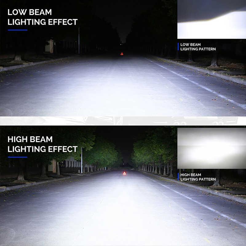 2PCS 12V Car H4 LED H1 Headlight Bulb H7 H11 H3 9005 9006 Hb3 Hb4 H13 LED Headlamp Kit S2 60W 8000LM COB IP68 Auto Light