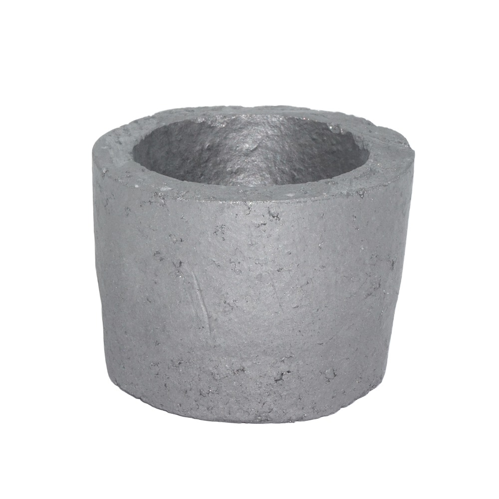 0.5# Foundry Silicon Carbide Graphite Crucibles Cup Furnace Torch Melting Casting Refining Gold Silver Copper Brass Aluminum