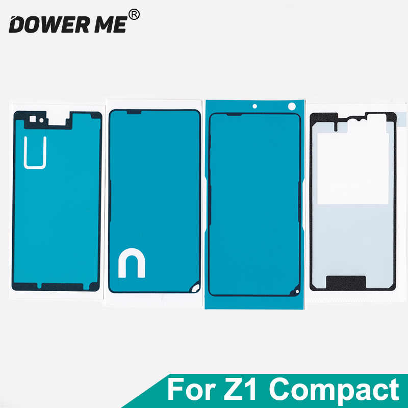 4Pcs/Set Front LCD Middle Frame Back Cover Waterproof Adhesive Full Set Tape Sticker For SONY Xperia Z1 Compact M51W Z1mini