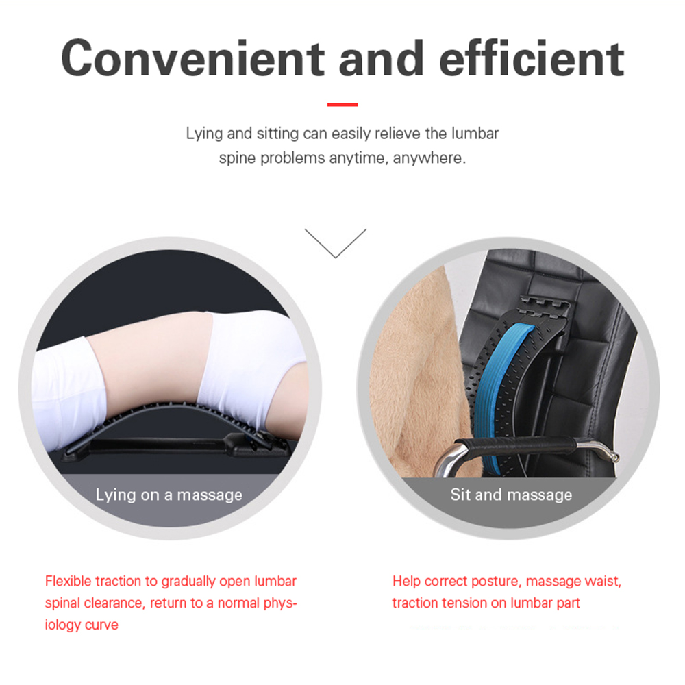 OLIECO Back Stretching Equipment Back Massager Magic Stretcher Fitness Lumbar Support Spinal Pain Release Corrector Health Care 5
